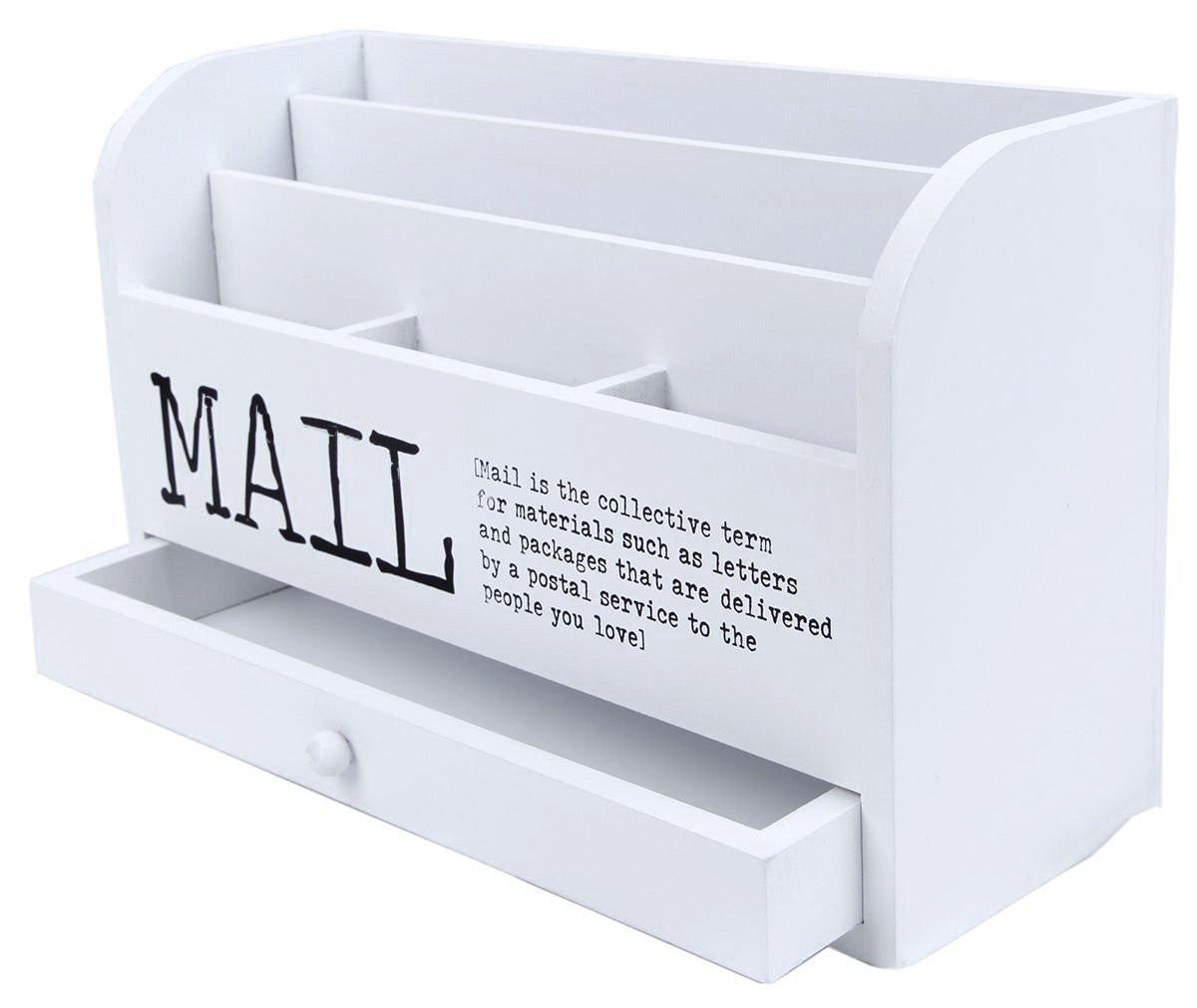 White Desk Organizer  Desk Letter Organizer Amazon
