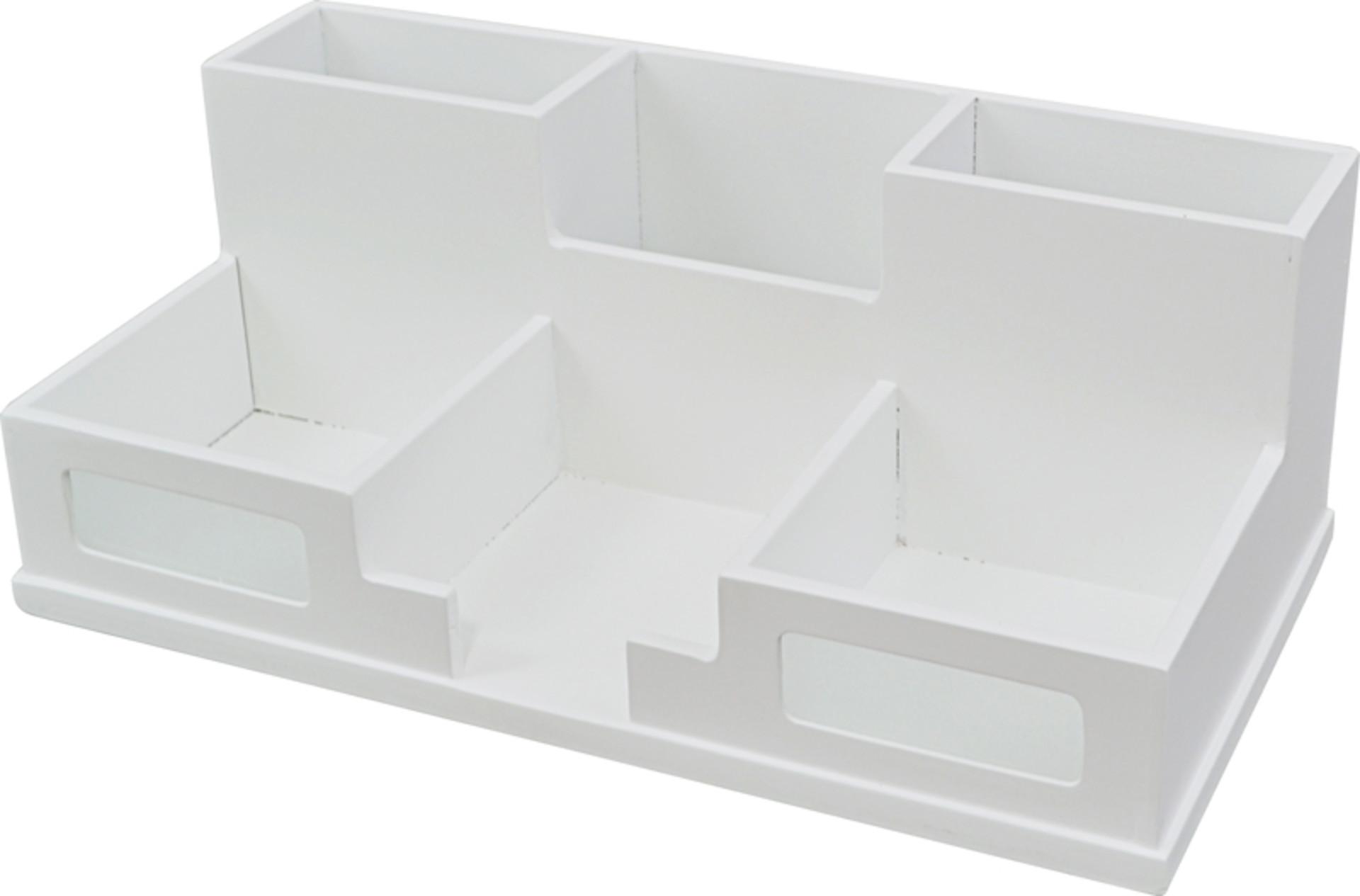 White Desk Organizer  Victor W9525 Pure White Desk Organizer with Smart Phone