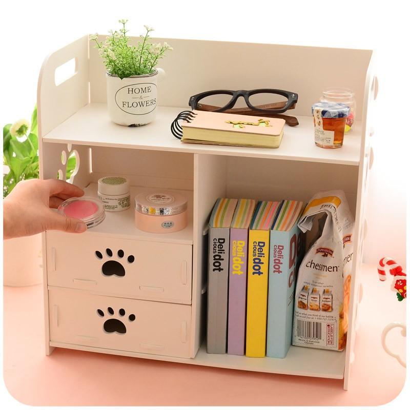 White Desk Organizer  Aliexpress Buy DIY Modern White Wooden Storage Box